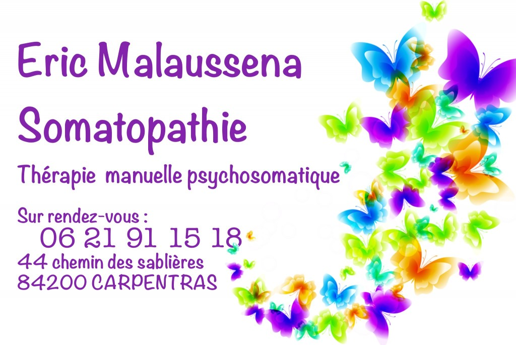 Carte de contact du cabinet de Somatopathie d'Eric Malausséna à Carpentras